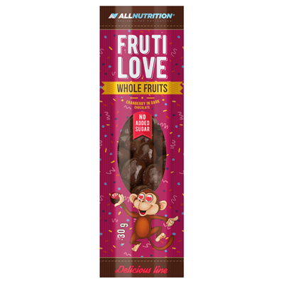 ALLNUTRITION FRUTILOVE WHOLE FRUITS - CRANBERRY IN DARK CHOCOLATE