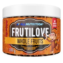 FRUTILOVE WHOLE FRUITS - DATES IN DARK CHOCOLATE WITH A HINT OF ORANGE