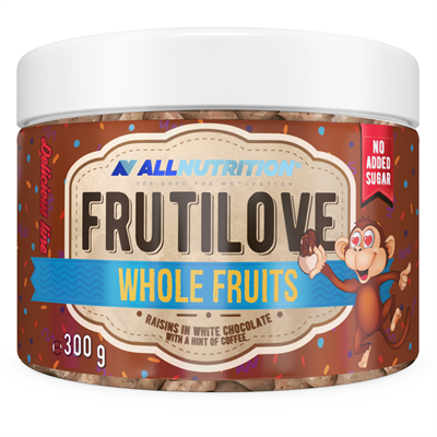 ALLNUTRITION FRUTILOVE WHOLE FRUITS - RAISINS IN WHITE CHOCOLATE WITH A HINT OF COFFEE