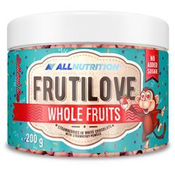 FRUTILOVE WHOLE FRUITS RASPBERRY IN DARK CHOCOLATE WITH RASPBERRY POWDER