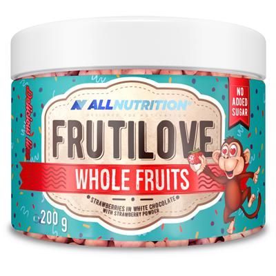 ALLNUTRITION FRUTILOVE WHOLE FRUITS RASPBERRY IN DARK CHOCOLATE WITH RASPBERRY POWDER