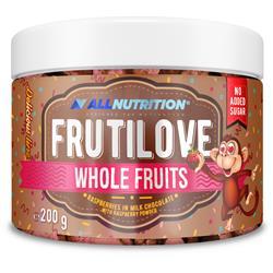 FRUTILOVE WHOLE FRUITS RASPBERRY IN MILK CHOCOLATE WITH RASPBERRY POWDER