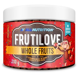 FRUTILOVE WHOLE FRUITS STRAWBERRIES IN DARK CHOCOLATE WITH STRAWBERRY POWDER