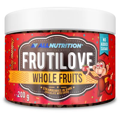 ALLNUTRITION FRUTILOVE WHOLE FRUITS STRAWBERRIES IN DARK CHOCOLATE WITH STRAWBERRY POWDER