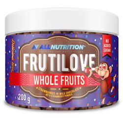 FRUTILOVE WHOLE FRUITS STRAWBERRIES IN MILK CHOCOLATE WITH STRAWBERRY POWDER