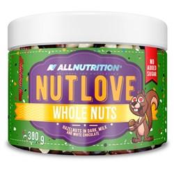 NUTLOVE WHOLENUTS - HAZELNUTS IN DARK, MILK AND WHITE CHOCOLATE