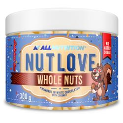 NUTLOVE WHOLE NUTS - ALMONDS IN WHITE CHOCOLATE WITH COCONUT